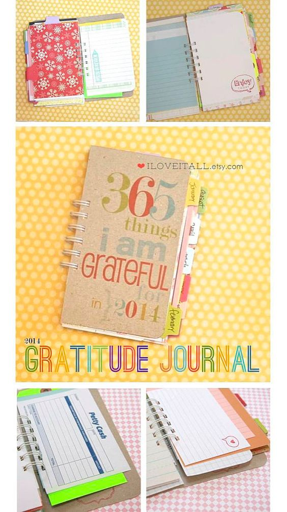 Gratitude Journal . 2014 January - December . 365 Things I Am Grateful For . Everyday Blessings Daily Document Notebook Thankful