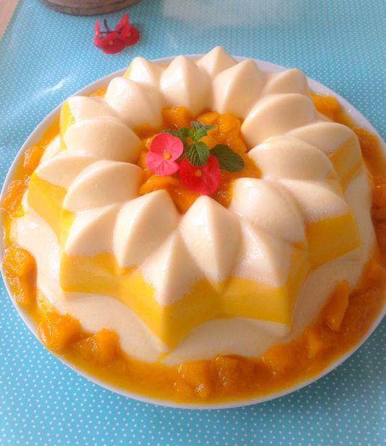 Gelatina de mango con leche condensada y alm bar de mango - Gelatina leche condensada ...