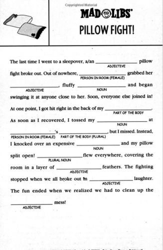 This is an image of Shocking Mad Libs for Adults Printable