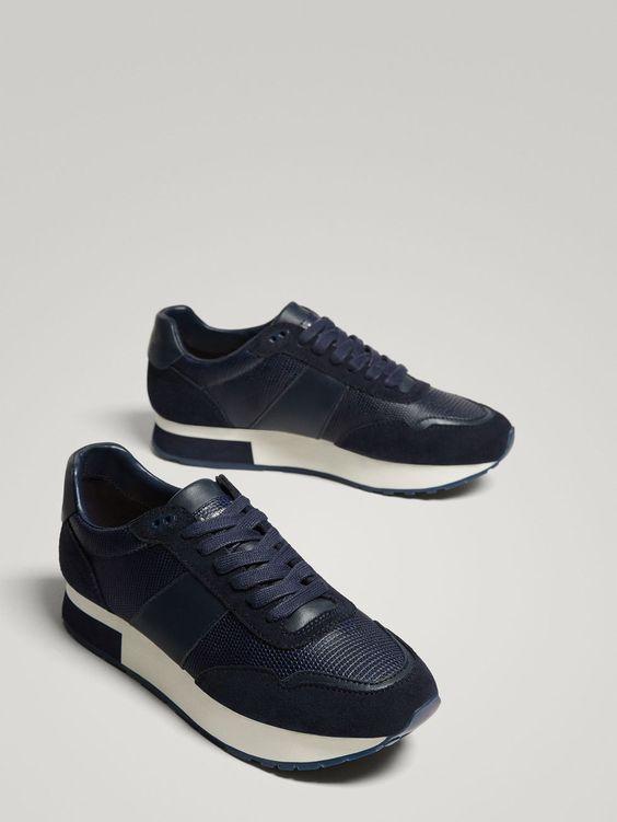 Niebieskie Buty Sportowe Null Massimo Dutti Sneakers Fashion Women Sport Sneakers Sneakers