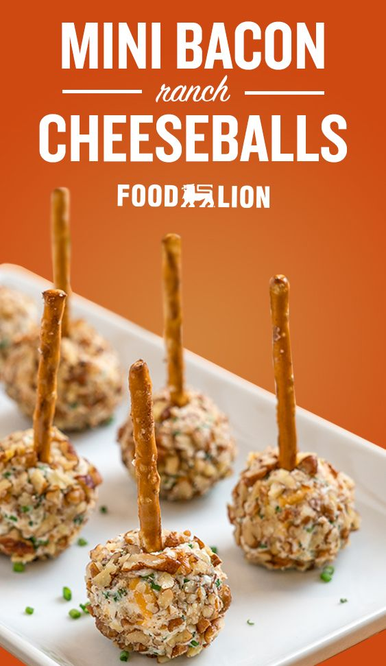 Mini Bacon Ranch Cheese Balls Appetizer Recipes Yummy Appetizers Yummy Snacks