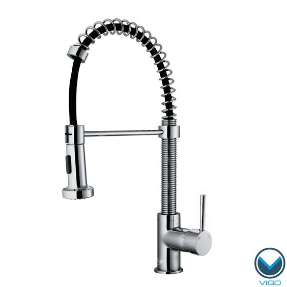 VIGO Chrome Pull-Out Spray Swivel Kitchen Faucet | Overstock.com Shopping - The Best Deals on Kitchen Faucets