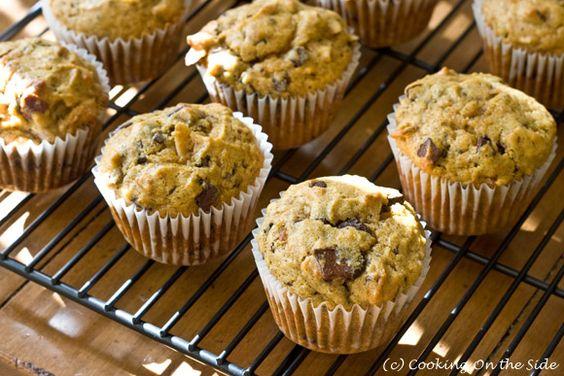 Pumpkin Chocolate Chunk Muffins | Breads ,muffins, bagels, pretzels ...