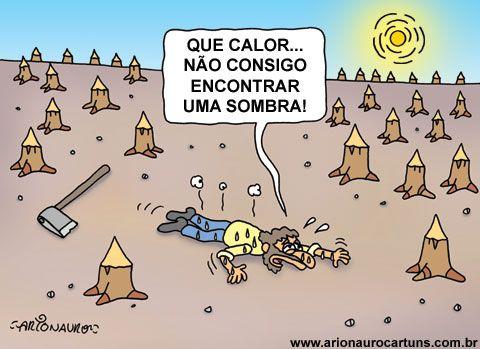 Blog Do Cartunista Arionauro Com Imagens Escola Floresta