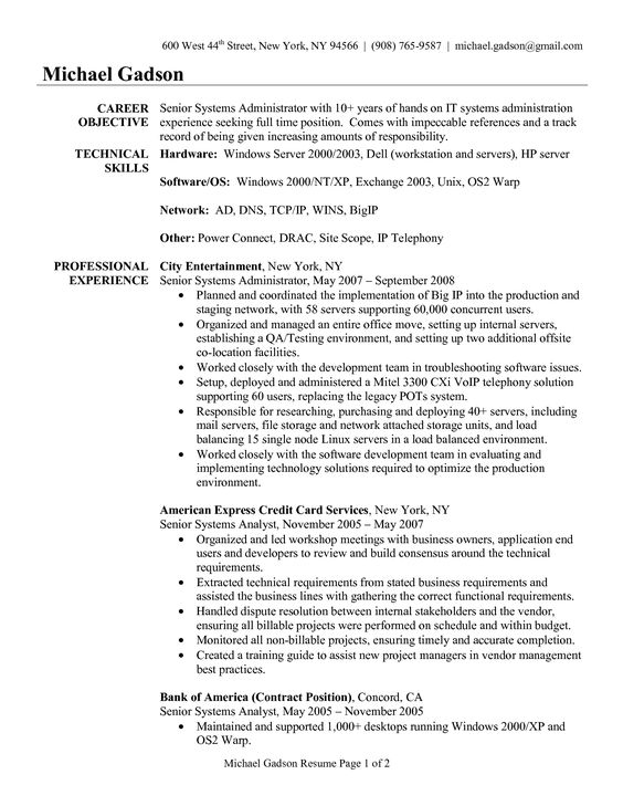 kronos systems administrator resume template Home Design Idea - systems administrator resume