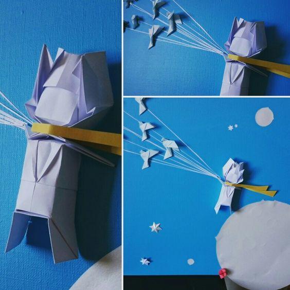 Origami Little Prince  Origami Le Petit Prince  Paperart réalisé par moi et inspiré par Jo Nakashima.  Baby gift: