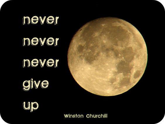 Winston Churchill was the man.