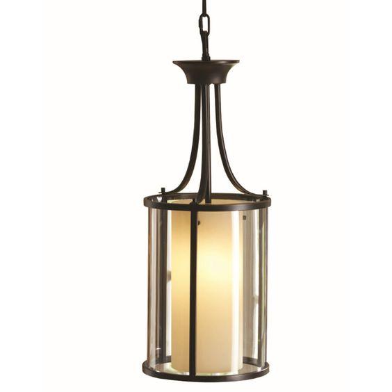 Shops bronze pendant light and pendants on pinterest for Allen roth bathroom light fixtures bronze