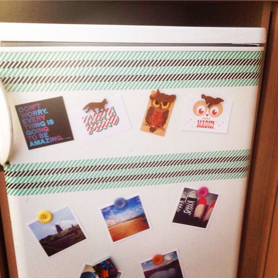 Pimped Up Our Tired Looking Fridge With Some Washi Tape