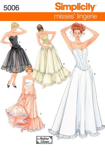 Simplicity Pattern 5006 Misses Costumes