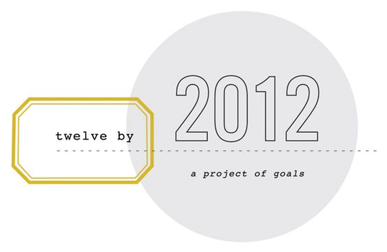 12 projects to complete before 2012: motivation to actually do all those projects I have pinned!