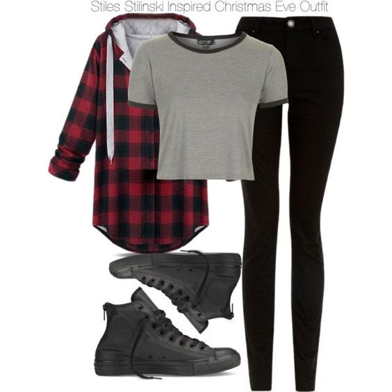 """Teen Wolf - Stiles Stilinski Inspired Christmas Eve Outfit"" by staystronng on Polyvore:"