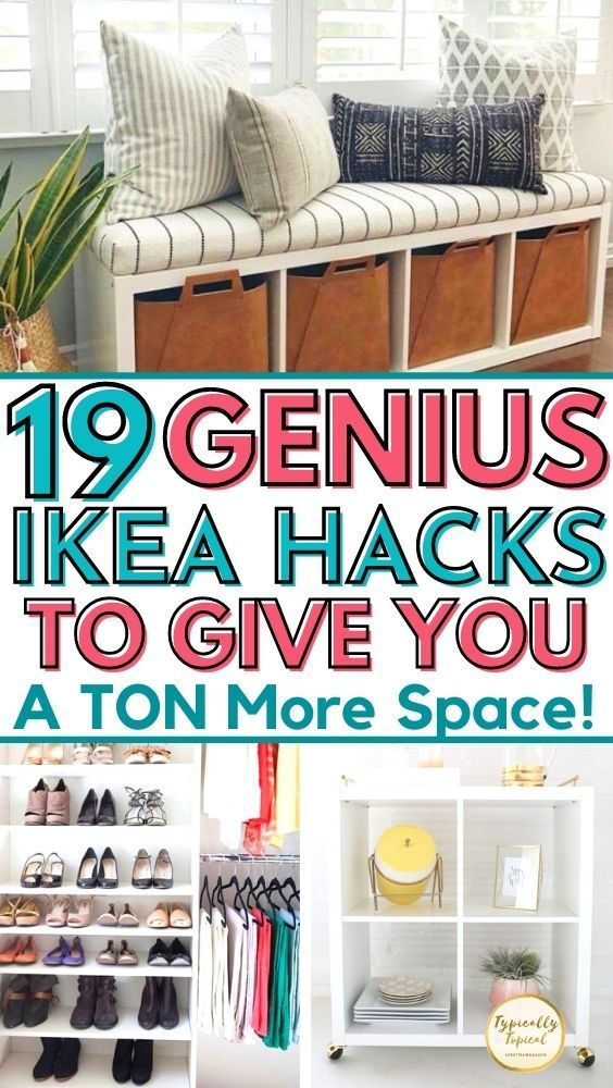19 Brilliant Ikea Storage Hacks For Small Bedrooms Easy Diy Small Bedroom Storage Small Room Storage Small Space Living Room