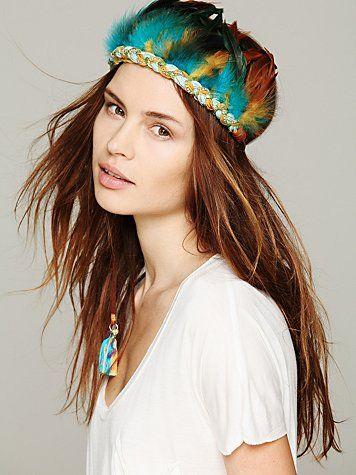 Turq Feather Headdress