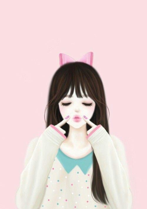 Korean Anime Cute Girl Cute Cartoons Pinterest Anime