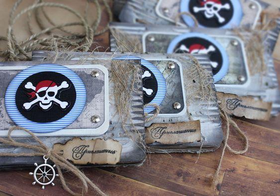 Делаем пиратские приглашения на пиратскую вечеринку | Пиратские загадки и конкурсы для пиратской вечеринки! | http://piratskiezagadki.ru: