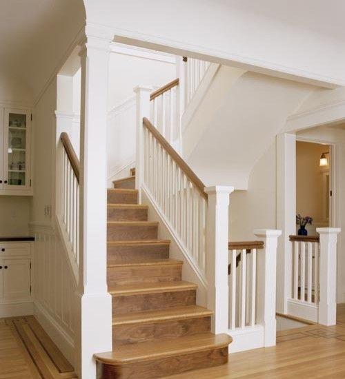 Rustic Staircase Design Ideas Newel Post Design Staircase: Traditional Staircase Split Level Staircase Design