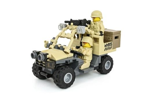 Lego Army Truck with mounted gun.