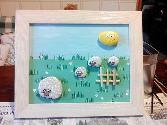 Quadretto pecore baby nursery