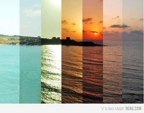 Seven hour montage: Beache, Favorite Places, Photo Ideas, Color, Time Lapse, Timelapse, Sunset, Photography Ideas, Photoideas