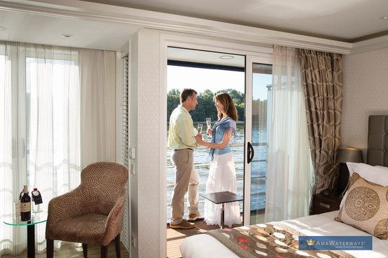Twin Balcony? Yes, please!  #AmaSTN #luxurytravel #rivercruise #europetravel #anniversarytrips