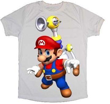 Nombre: Playera Mario Bros,  Descripción: Playera gris o blanca con imagen de Mario Bros,  Tipo de playera: Adulto Unisex , manga corta  Tallas: CH, M y G  Precio: 160