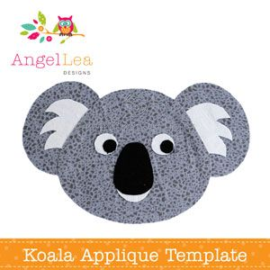free applique templates koalas appliques and applique templates. Black Bedroom Furniture Sets. Home Design Ideas