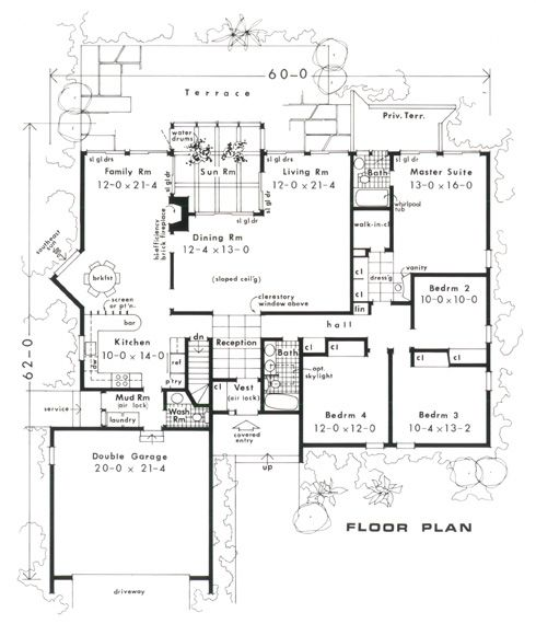 my favorite layout so far! 4 bedroom passive solar house plans