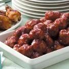 Honey-Garlic Glazed Meatballs Recipe | Taste of Home Recipes