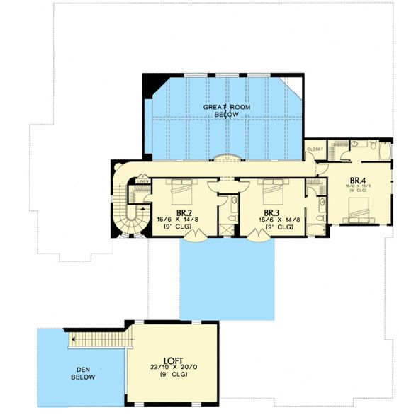 Plan W16377MD: Spanish, Southwest, Corner Lot, Luxury, European, Tuscan House Plans & Home Designs