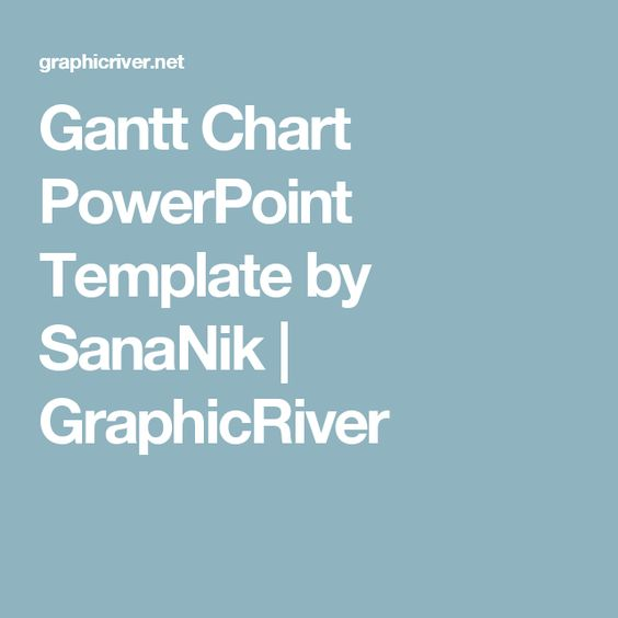 Gantt Chart Powerpoint Template  Templates And Charts