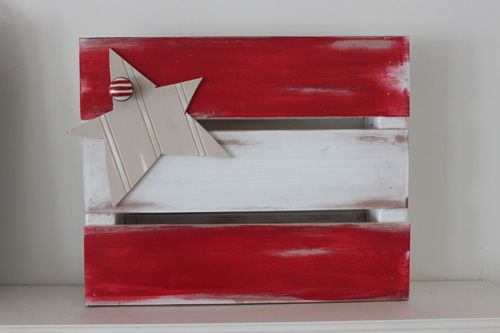 Build a mini crate and decorate for the anytime or season. This is for the 4th of July