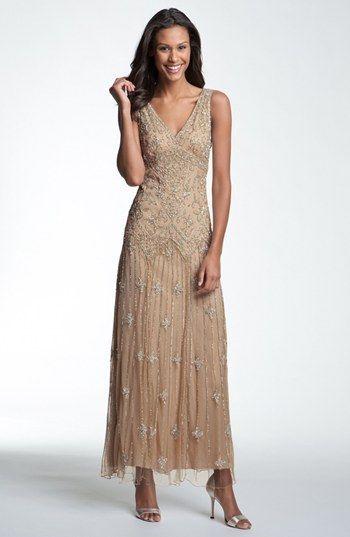 Women&39s Pisarro Nights V-Neck Beaded Sequin Gown Size 12 - Pink ...