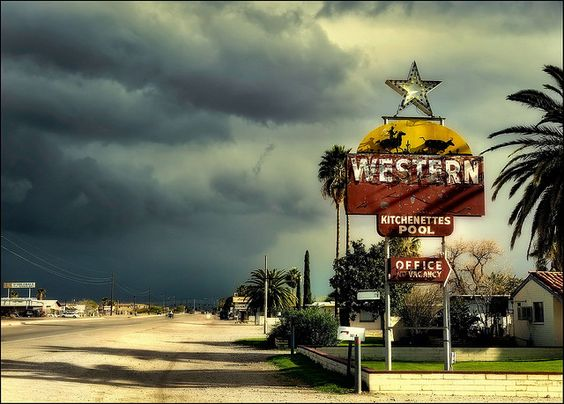 Western motel.