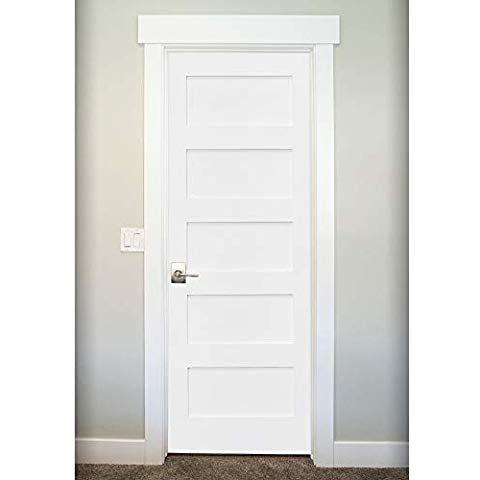 Amazon Com Snavely International 5 Panel Door White Primed Shaker Home Kitchen Panel Doors White Paneling 5 Panel Doors