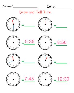 Learn to tell time, Worksheets and To tell on Pinterest