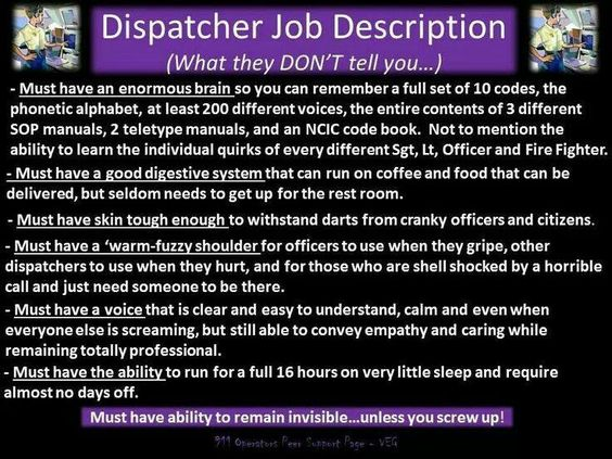 Dispatcher Job Description | My 911 Dispatch/Ems/Fire/Pd