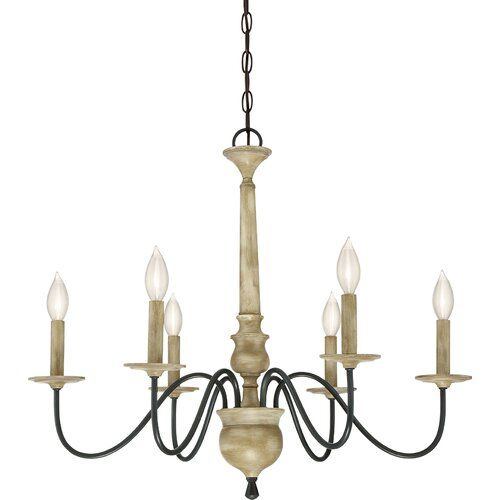 Helen 6 Light Candle Style Classic Traditional Chandelier