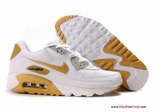 air max 90 white gold
