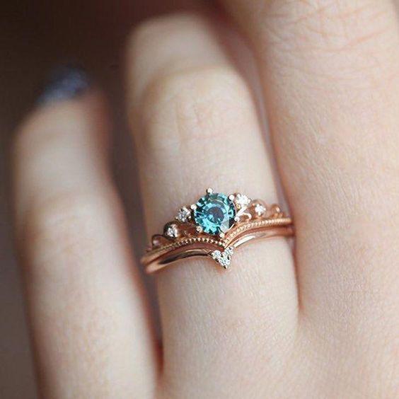 The Major Jaehyun Jung Cincin Kawin Berlian Cincin Antik Perhiasan Lucu