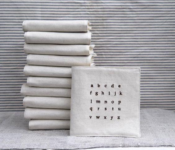 Linen and Felt Alphabet Book $48.00, by Pilosale, via Etsy.