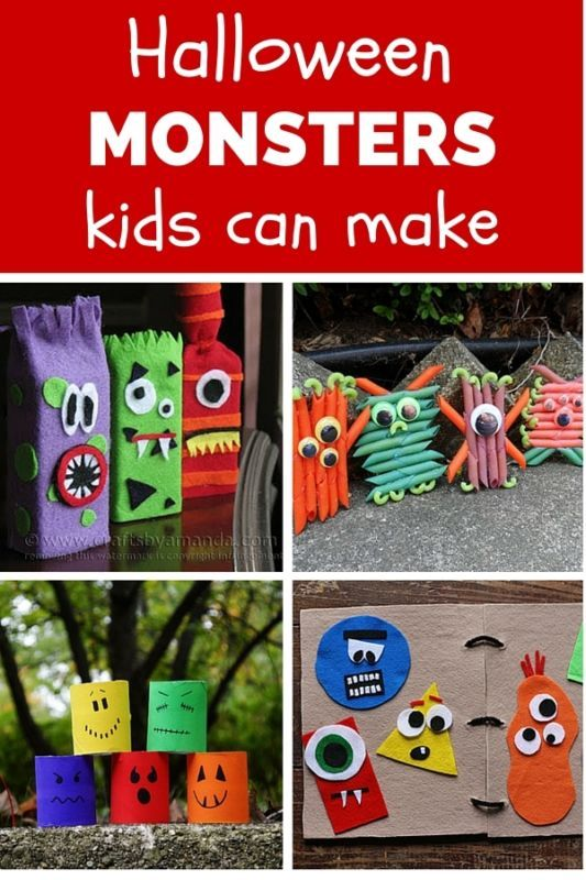 Halloween Monsters That Kids Can Make, Amanda Formaro, Crafts by Amanda