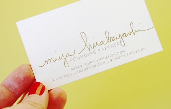 Bring it! Business Card Inspiration | papernstitch