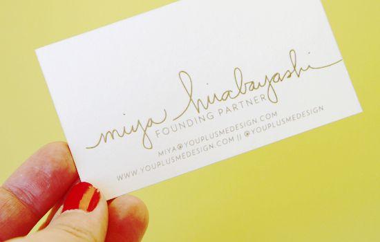 Bring it! Business Card Inspiration | papernstitch