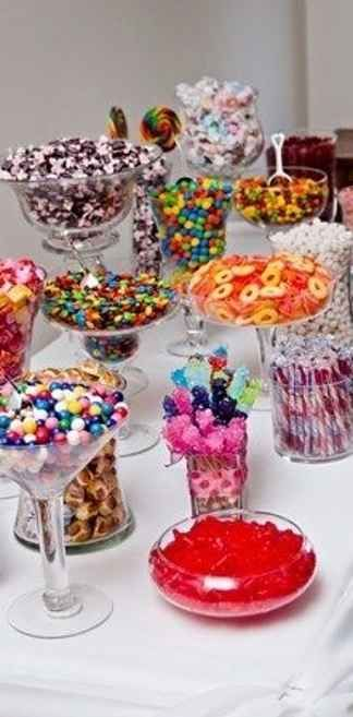 Every wedding MUST have one of these tables. Sweets glorious sweets! #WeddingIdeas