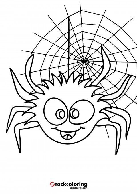 Spider Coloring Page Spidercoloringpage Animalcoloringforkids