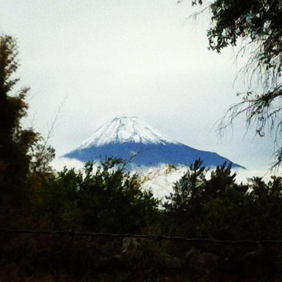 Volcan de Colima, con Nieve Febrero 11 2012