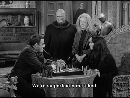 Morticia&Gomez: gothic romantic quotes | Queen of Darkness