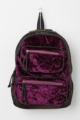 Deux Lux Velvet Abby Backpack - Urban Outfitters.  Could definitely carry some diapers and stuff for the grands in this. Love velvet.