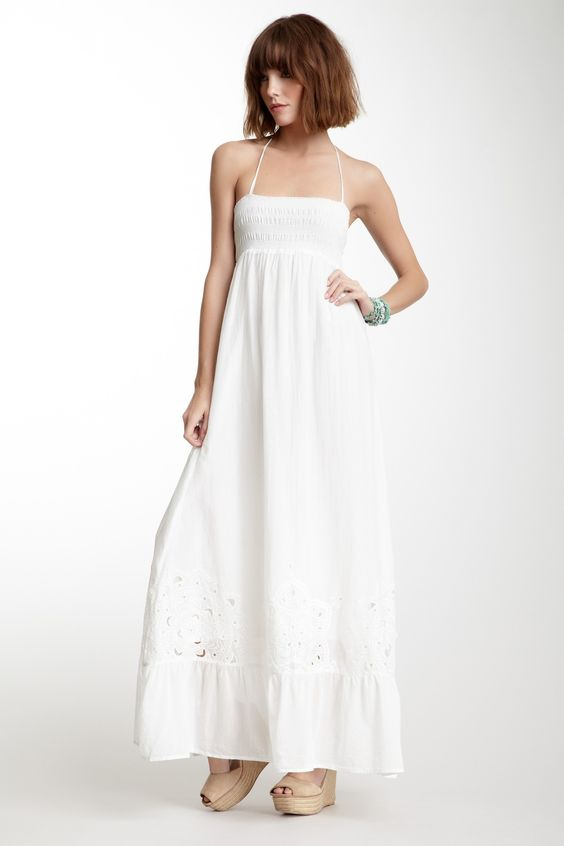 Smocked Maxi Dress for the beach
